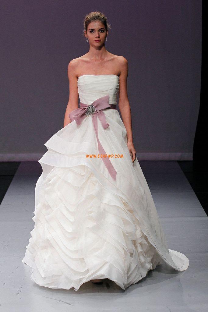 A-line Scintillant & brillant Printemps Robes de mariée 2014