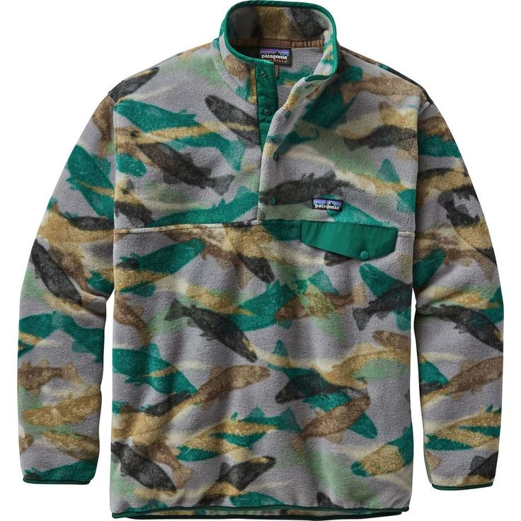 Patagonia - Synchilla Snap-T Fleece Pullover - Men's - Trout Tails/Legend Green