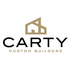 Carty Custom Home Builder #logo option 2 for modern #austin #homebuilder #modernlogo #branding