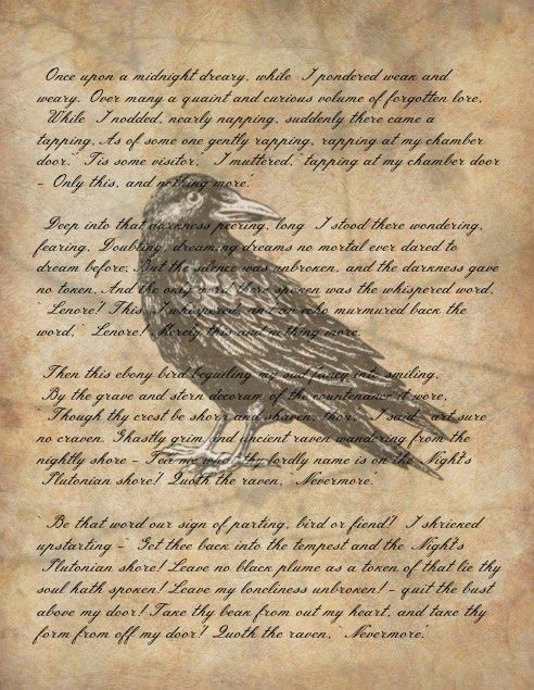 quoth the raven the raven poem Find and save ideas about the raven poem on pinterest | see more ideas about the raven, quoth the raven and edgar allan poe life.