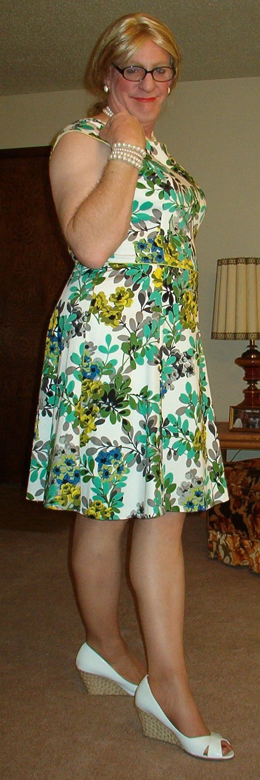 Spring Floral Dress Plus Sized And Feminine Danny And
