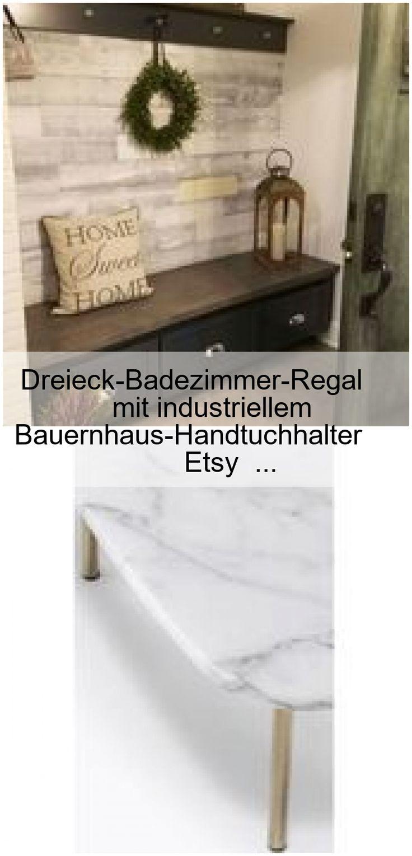 Dreieck Badezimmer Regal Mit Industriellem Bauernhaus Handtuchhalter Etsy Bade Welcome To Blog In 2020 Farmhouse Decor Home Decor Decor