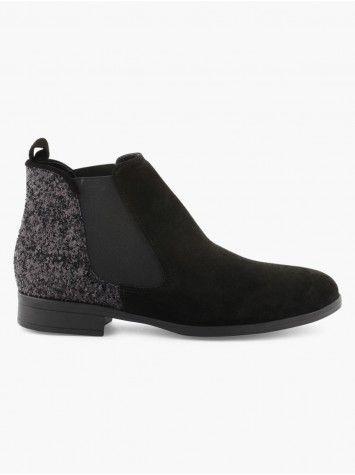 Découvrez les caractéristiques du produit Boots Chelsea Unies, sur le site  de La Halle, marque de vêtements et chaussures pour femmes et hommes.