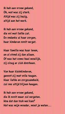 Voor mijn mama 22-06-1911 / 08-06-2001