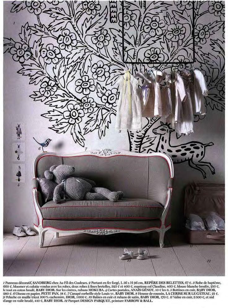Papier peint Eden de Sandberg dans une chambre d'enfant - en vente ici http://www.aufildescouleurs.com/poster-xxl-arkiv/4237-panneau-decoratif-eden-612-15.html