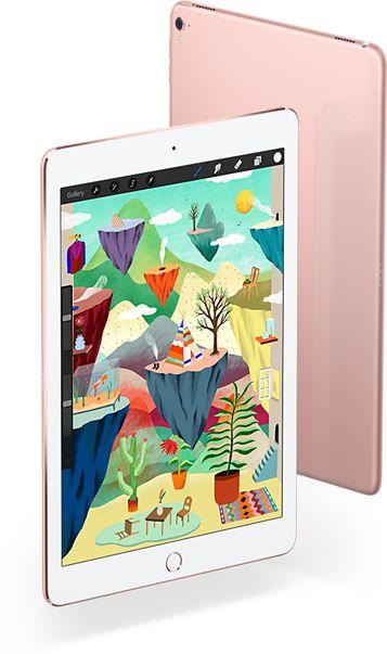 L'iPad Pro livre une puissance vertigineuse, désormais disponible en deux formats : 12,9 pouces et 9,7 pouces. Découvrez la puce A9X, l'écran Retina sophistiqué et l'appareil photo iSight 12 Mpx, entre autres atouts.