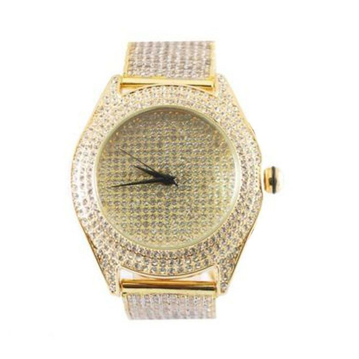 Gold Mens Watches On Sale Simulated s Micro Pave Unique Custom