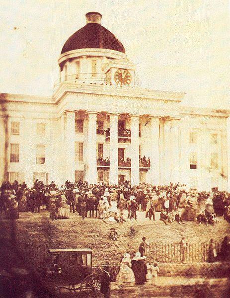 Jefferson Davis' Inauguration in Montgomery in Feb of 1861. #civilwar