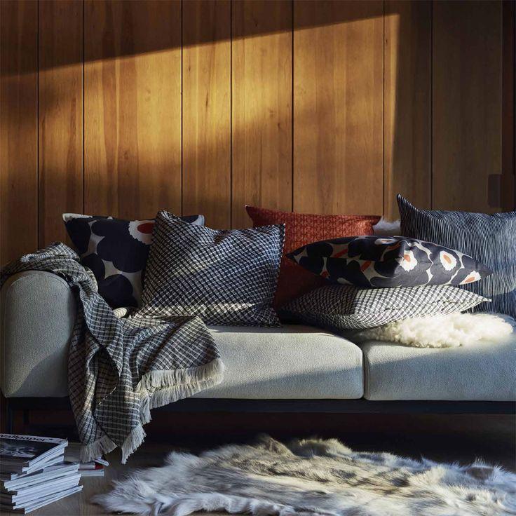 marimekko kopeekka dark grey throw pillow - Marimekko Bedding