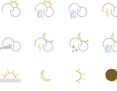 "Check out new work on my @Behance portfolio: ""Weather ICON SET"" http://be.net/gallery/40350969/Weather-ICON-SET"