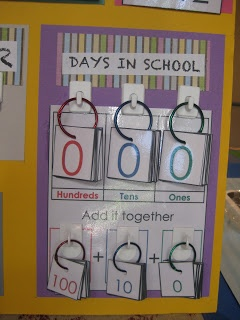 Days in school counter (and place value counter/practice too!)