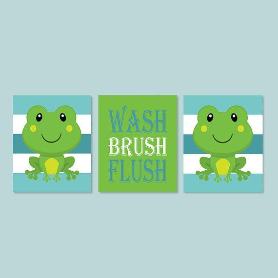 Frog Bathroom Decor Child Bathroom Wash Brush by LovelyFaceDesigns, $29.00