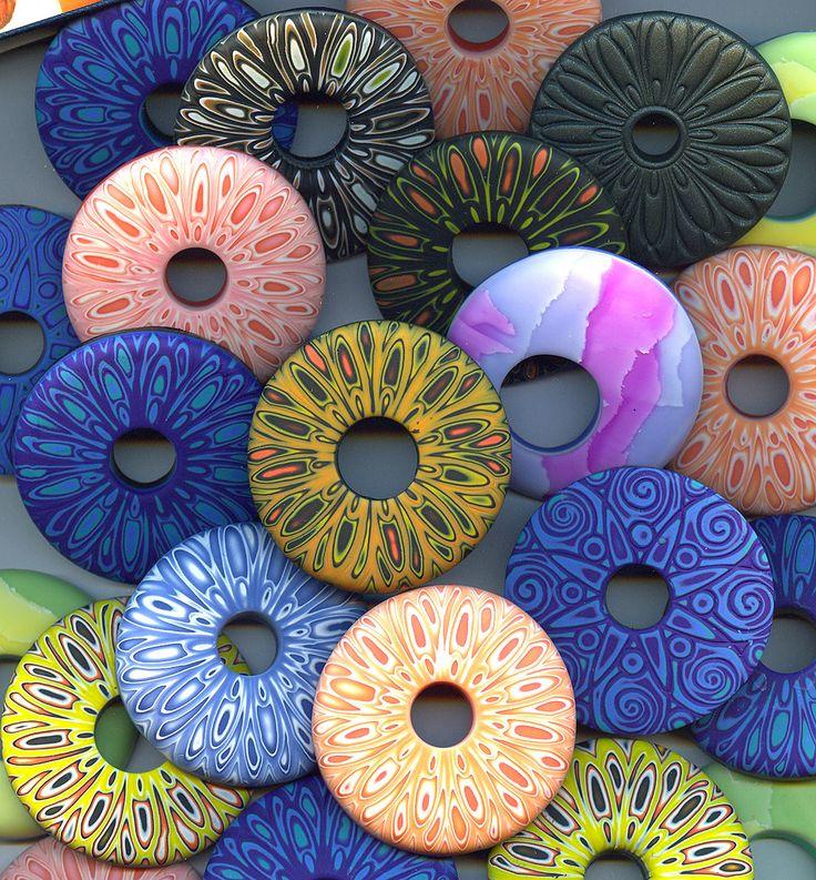 Polymer Clay Mokume Gane Donuts! by Rebecca Goeffrey | Flickr - Photo Sharing!