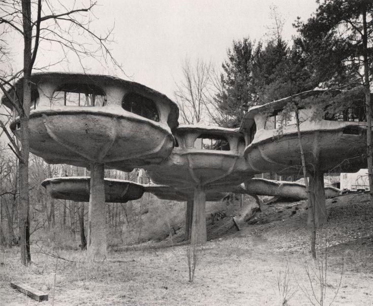 Robert H. Antell House, 1971 in Perinton, NY - this whimsical construction