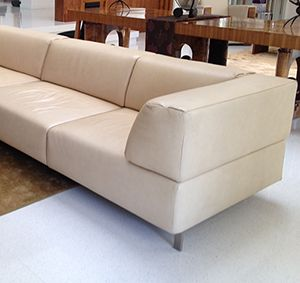 Cream Leather Sectional From Todd Alderman $7,500