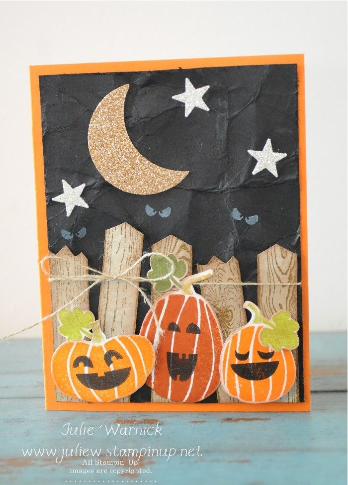 Halloween Card Making Ideas Part - 29: Stampinu0027 Up! Fall Fest Halloween Card By Julie Warnick