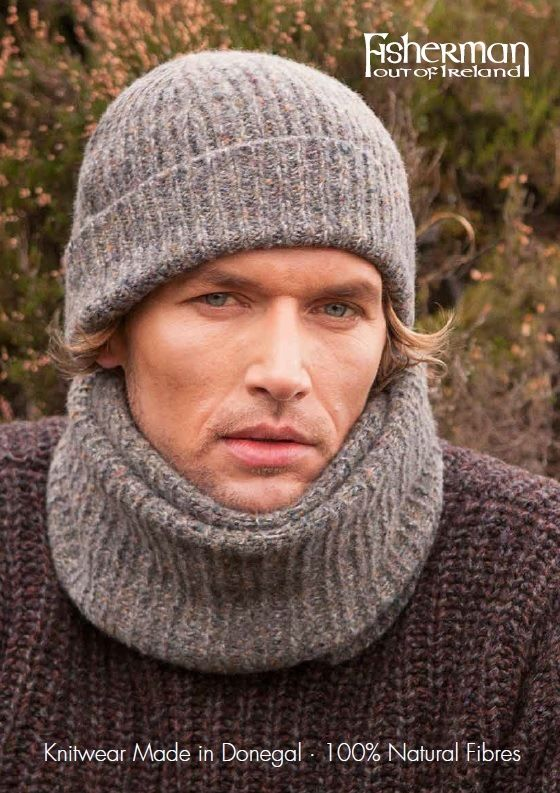 Fisherman Out of Ireland Knitwear - Hat & Scarf 100% natural fibres #wool #fashion