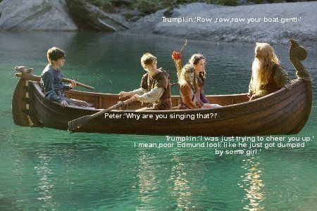 I love The  Behind The Scenes stuff of Narnia. Edmund does look miserable in this scene. :(