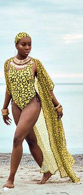 LOLA african print swimsuit cover up/ kimono. African fashion, Ankara, kitenge, African women dresses, African prints, African men's fashion, Nigerian style, Ghanaian fashion, fashion blogger (affiliate)
