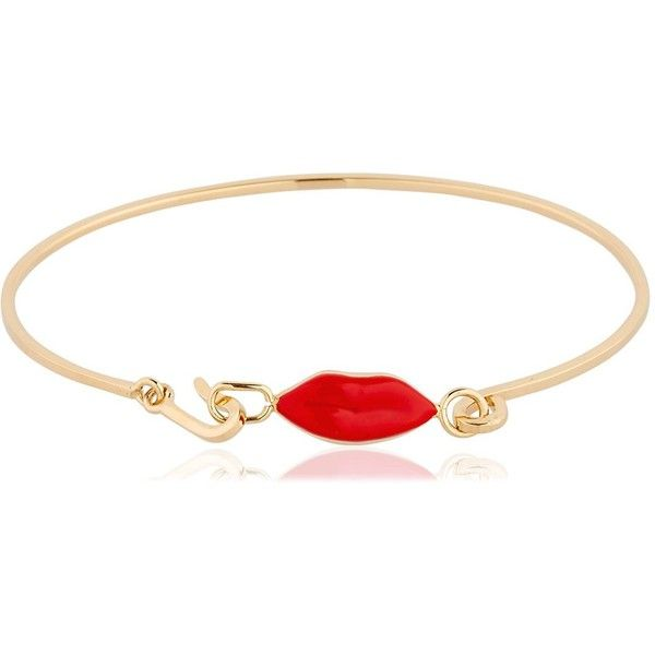 Delfina Delettrez Women Grandma Lips Bracelet (€450) ❤ liked on Polyvore featuring jewelry, bracelets, gold, delfina delettrez, delfina delettrez jewelry, lip jewelry and lip jewellery