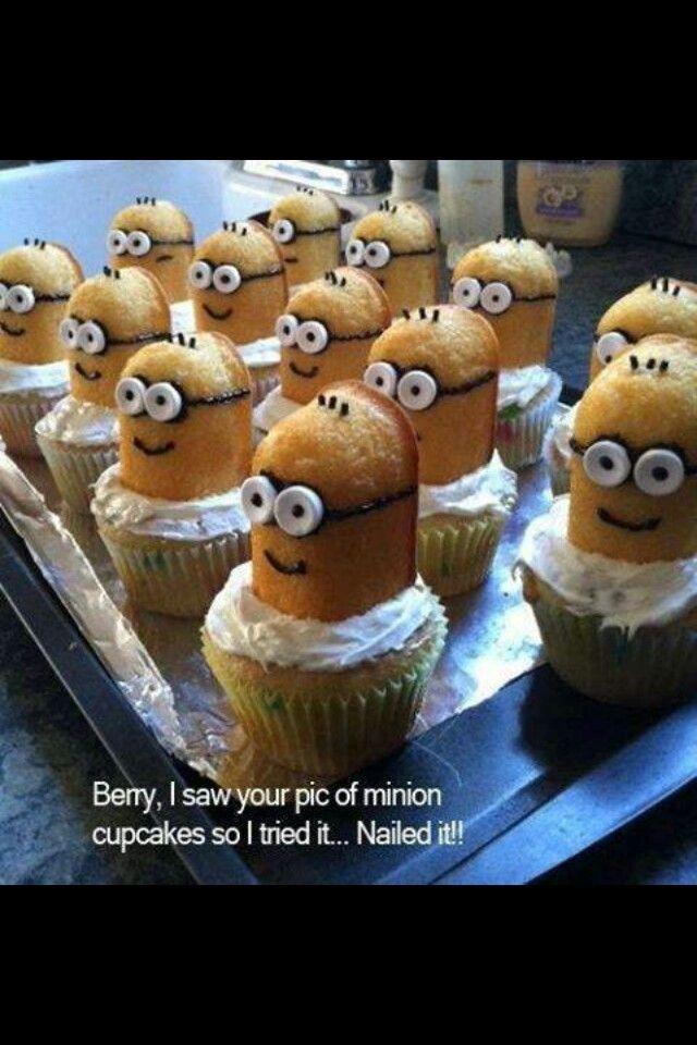 Minion twinkie cupcakes!