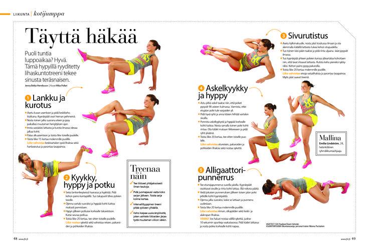 Puolen tunnin lihaskuntotreeni / Fit 7-8/2013