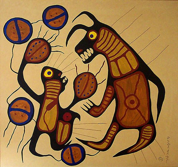 'Bear Spirit' by Norval Morrisseau