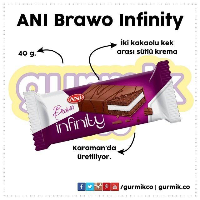 İki kakaolu kek arası sütlü krema: Brawo Infinity… İlk denediğimde arasında marshmallow olduğunu zannetmiştim. :)