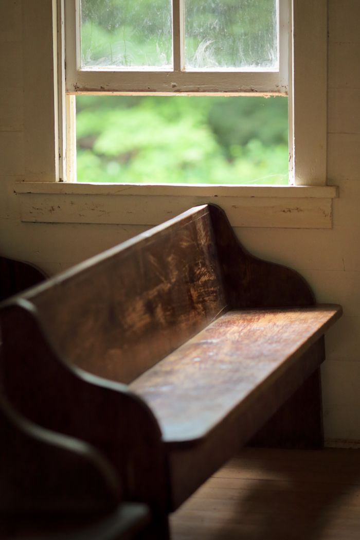 Window by a Church Pew, Cades Cove, Great Smoky Mountains National Park, Tennessee © Doug Hickok  All Rights Reserved More here…