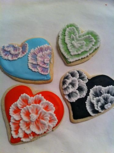 Flowered heart cookies.  The Sweetest Thing, LLC - Custom Invites / Favors - Waterford - Wedding.com