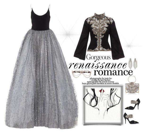 """""""Ballroom gown"""" by andreearaiciu ❤ liked on Polyvore featuring Alexander McQueen, Kenneth Jay Lane, Masquerade and Agent Provocateur"""