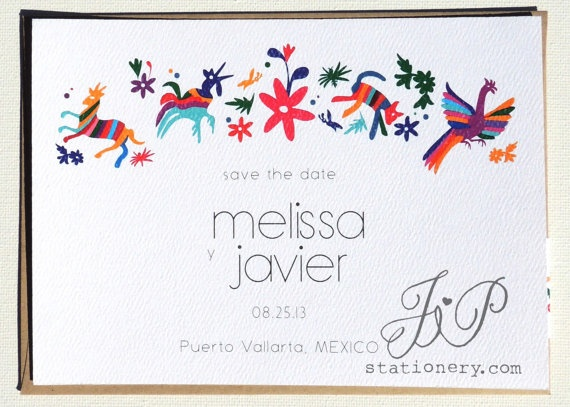 Destination Wedding Save the Date  Mexico De Mis by JPstationery, $2.50