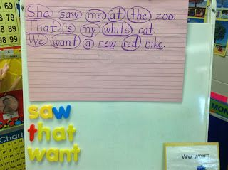 Sight Word Practice - Lots of great ideas for teaching sight words and writing sentences!