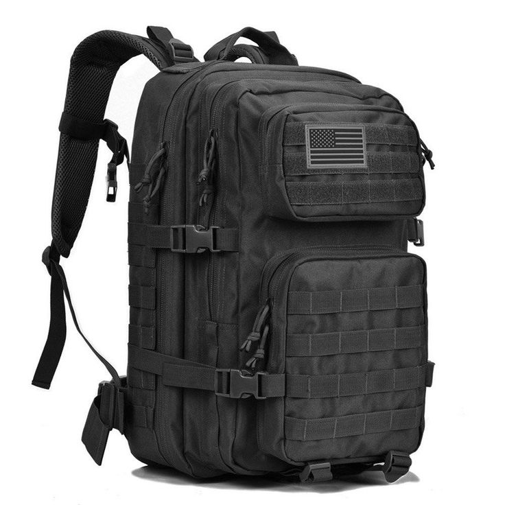 Military Tactical Backpack Army Large Travel Gear Gear Hunting Backpacking Black