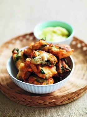 Fritters, Spinach and Salts on Pinterest