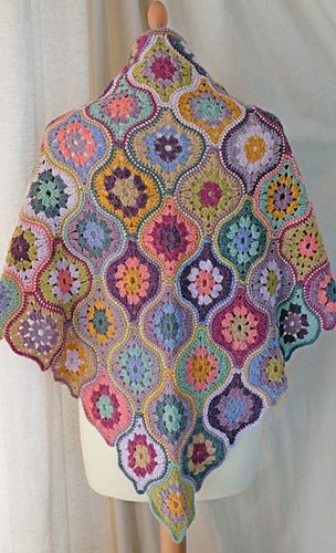 Ravelry: Mystical Lanterns Shawl pattern by Jane Crowfoot. This pattern is available for £3.95.