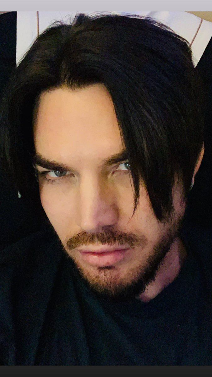Adam Lambert trying to grow out his hair 2019 in 2019