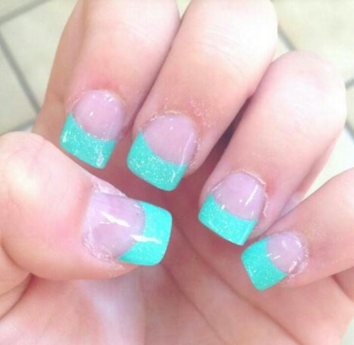 Tiffany blue french tips