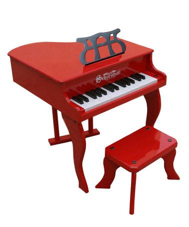 Loving this Red 30-Key Fancy Baby Grand Piano on #zulily! #zulilyfinds