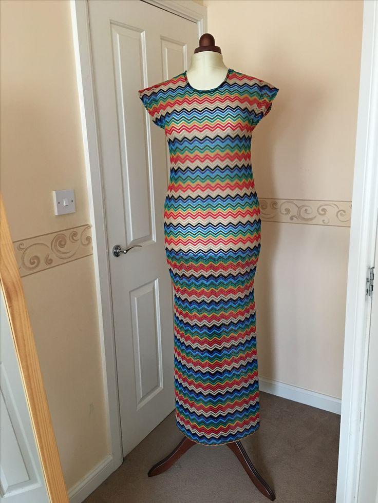 Crochet dress fabric .