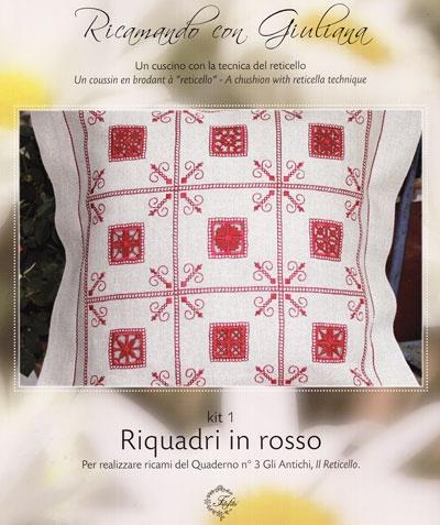 Borduren met Giuliana - Panelen in het rood - Frans