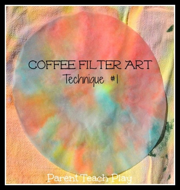 3 Ways for Coffee Filter Art