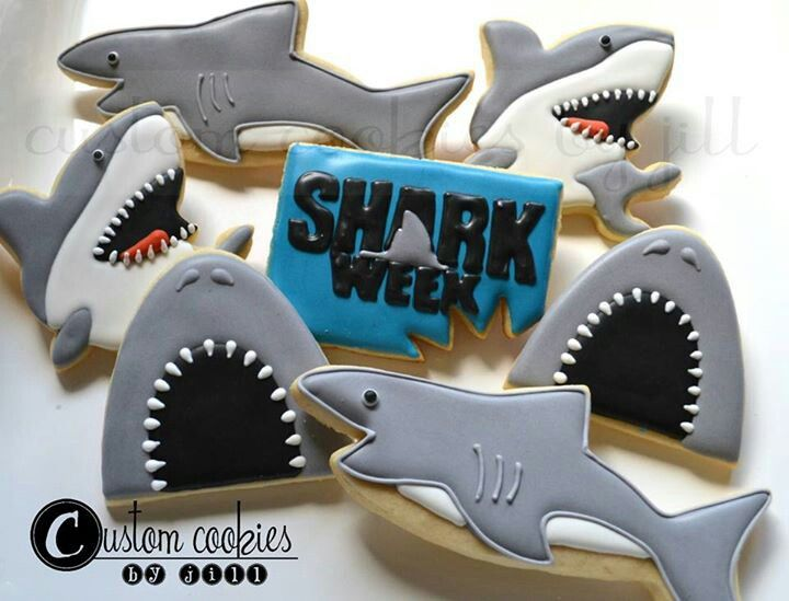 Shark Week cookies