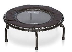 How about a professional fitness trampolie for your morning  training routine? 100% silent and 1000% solid. Behold! The Jumpsport fitness trampoline model 250!