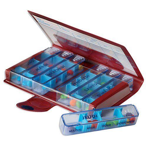 MAGNIEN Piluliers Semainiers Classiques Medidose – Modèle aléatoire: Pilulier transparentEspaces ajustables selon la taille des…