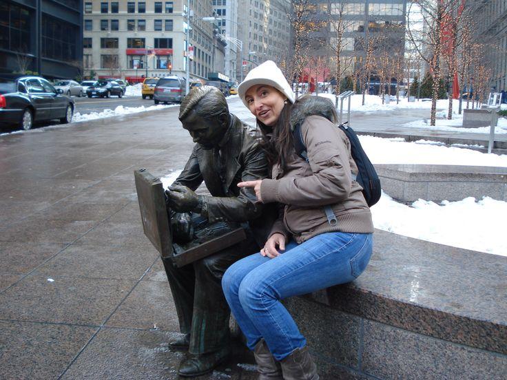 con mi amigo de Manhattan