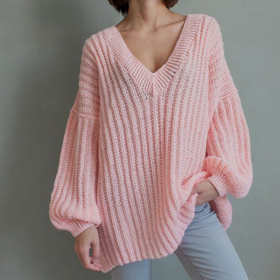 Loose sweater Oversized sweater Plus size cozy sweater slouchy pullover Free size sweater Big jumper 7