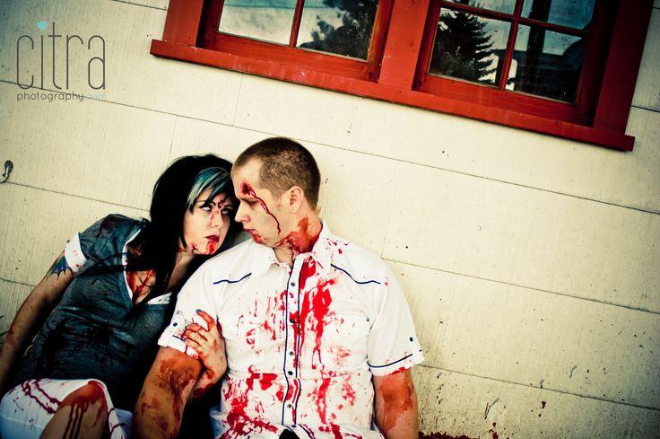 Zombie Engagement Photos