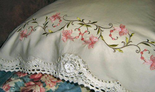 How to Make Pillow Cases With Lace Embroidery | eHow.com