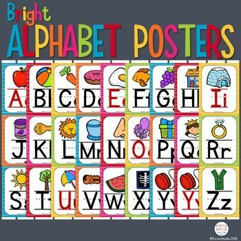 This is a simple set of alphabets designed to complement any brightly colored…